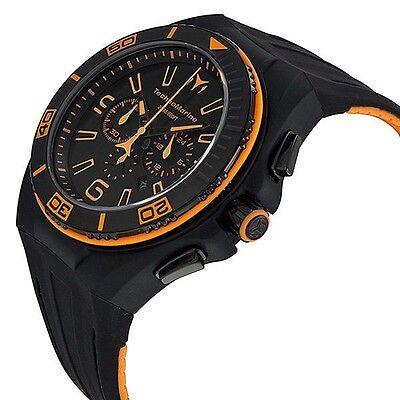 New Mens TechnoMarine 112005 Night Vision II Chronograph Black PVD Strap Watch