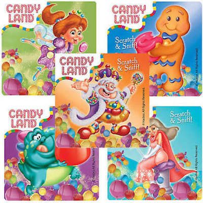 Candy Land Party (10 Scented Candy Land Stickers Party Favors Teacher Supply scratch &)