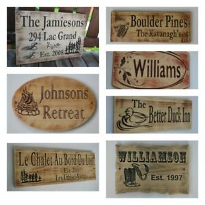 Personalized Carved Wood Signs