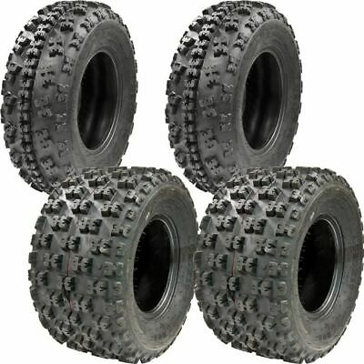 (All 4 Tires) 21x7-10 & 20x10-9 New TG EOS ATV TIRE SET Yamaha Raptor 660 700