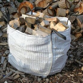 Large dumpy bag of seasoned hardwood logs - £55
