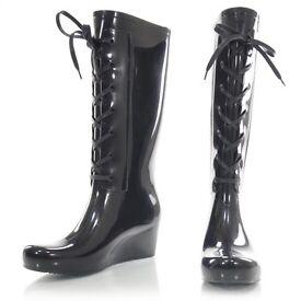 Yves Saint Laurent wellies boots