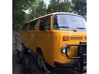 T2 vw camper van bay window