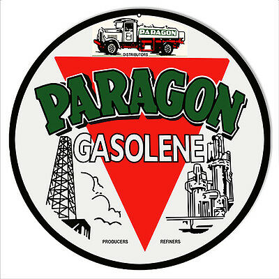 Paragon Gasolene Sign 14 Round