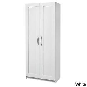 Kitchen Pantry White Cabinet Storage Home Office Organize Utility
