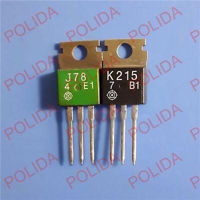 1pair Transistor HITACHI TO-220 2SJ78/2SK215 J78/K215 100% Genuine and New