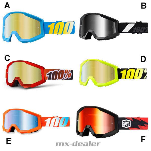 100 /% Prozent Brille Strata Nation Blau Motocross Enduro Downhill Cross Quad BMX