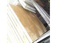 Peak Riven Bradstone Buff Slabs Paving 600x600 New x15