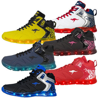 Kangaroos Leder-sneaker (KangaROOS K-Lev VI HI Schuhe LED High Top Sneaker 16065 K-Lab KaVu Barry Riveter)