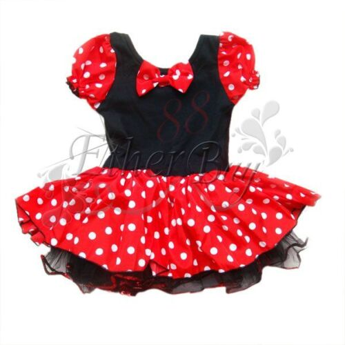 m dchen minnie mickey mouse maus kost m ballettkleid party tutu kleid gr 86 140 ebay. Black Bedroom Furniture Sets. Home Design Ideas