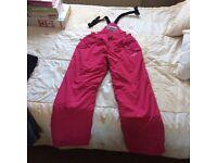 Ladies/Girls pink Salopettes