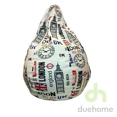 Puff pera puf polipiel pouf amoldable XL UK