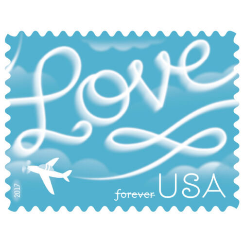 Купить USPS New Love Skywriting Pane of 20