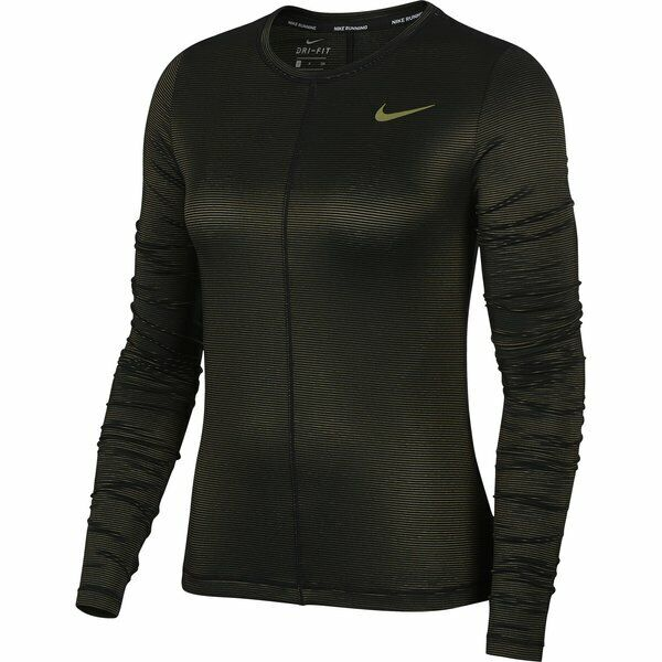 New Nike Womens Shine Miler Dri-FIT Long-Sleeve Running Top