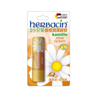 [HERBACIN] Kamille Natural Organic CITRUS Moisturizing Lip Balm 4.8g NEW