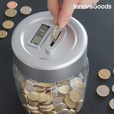 hucha electronica electrica contador de monedas con pantalla