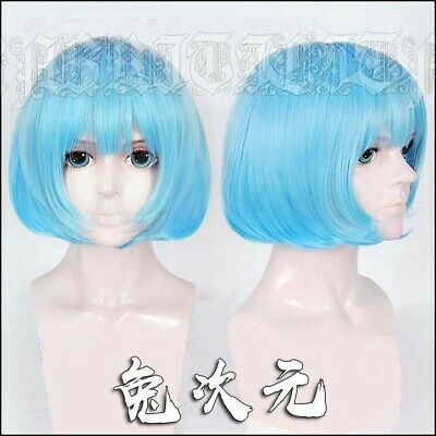 Dead Or Alive NiCO Cosplay Blue Bob Hair Wig Game Ku Sa  (Dead Or Alive Cosplay Kostüme)
