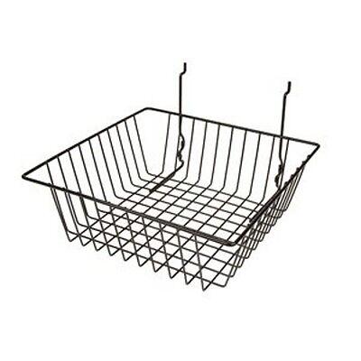 Black Basket For Gridwallslatwallpegboard - 1pc