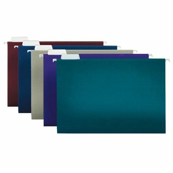 Office Depot Brand 2-Tone Hanging File Folders, Legal Size, Assorted Colors 25Pk