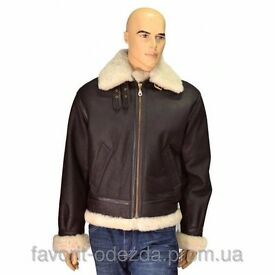 Air force jacket/ Leather/ Sheepskin coat size S