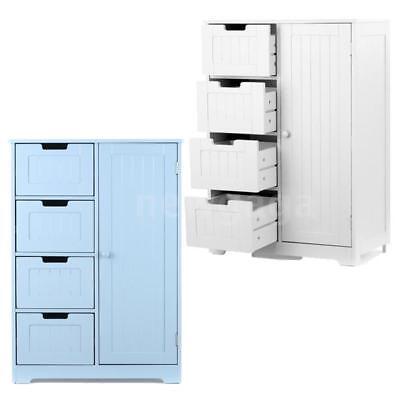 Storage Cabinet Kitchen Organizer Wood Furniture Bathroom Cupboard Shelf E8J8