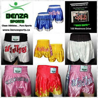 BENZA MUAYTHAI SHORTS ON SALE STARTING AT $19.99 +FREE SHIPPING!