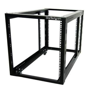 StarTech - 12U 4 Post Server Equipment Open Frame Rack Cabinet