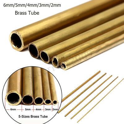 2 3 4 5 6mm 300mm Long 0.45mm Wall Brass Tube Pipe Outer Diameter DIY Metal