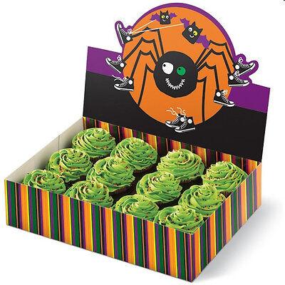Halloween Spider Fun Colorful Cupcake Box Holder  (Fun Halloween Cupcakes)