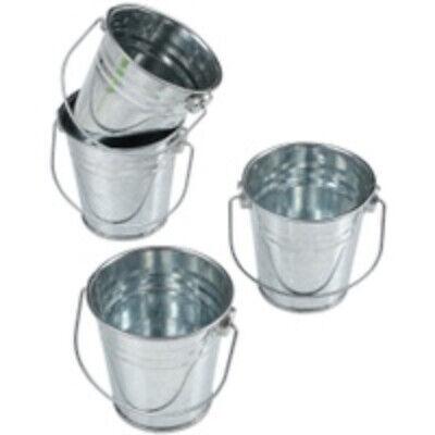 Mini Metal Buckets (12 Metal Rustic Mini Buckets Wedding Shower Fishing Party)