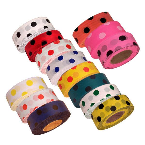 """Polka Dot Flagging Tape 1-3/16"""" Non-Adhesive Plastic Ribbon"""
