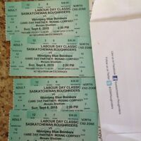 2 labour day classic tickets