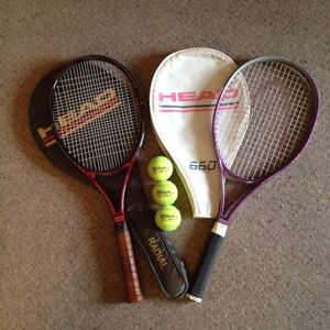 Two, 'Head' Tennis Racquets.