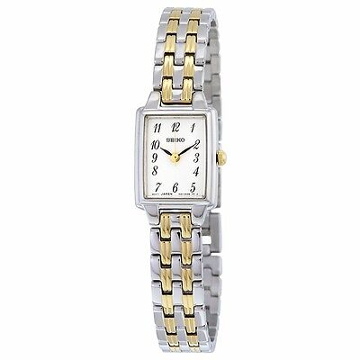 Seiko Women's SXGL61 Dress Two-Tone Stainless Steel White Dial Quartz Watch