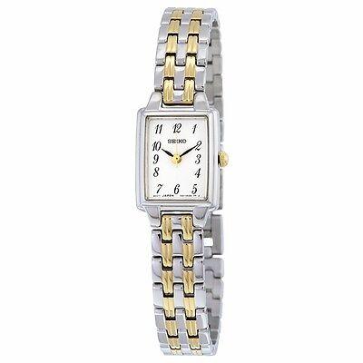 New Seiko Women's Two Tone Stainless Steel Quartz Watch SXGL61
