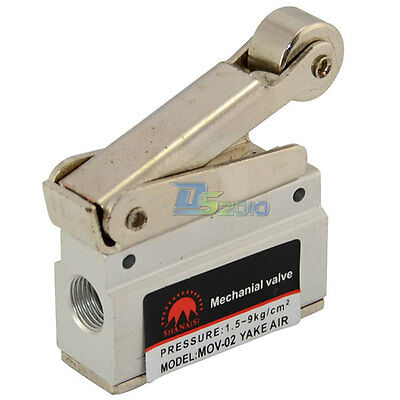 Mov-02 18 Mechanical Push Button Valve Npt Aluminum Pneumatic Air Valve Npt