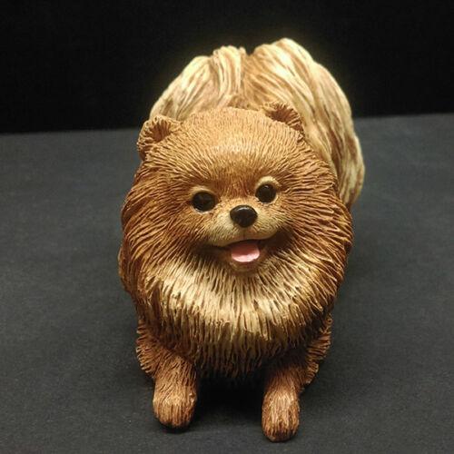 Pomeranian Dog Figurine Model Home/Car Dashboard Ornament Decor Gift US