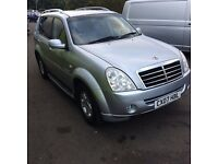 2007 ssangyong rexton 2.7 xdi diesel auto awd 4x4 long mot leather sat nab cruise