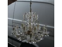 Chandalier lead crystal ..heavy ..glass £60