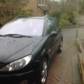 Peugeot 206sw estate Black