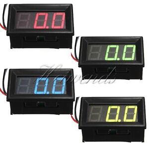 0-56-3-Wire-LED-Voltmeter-Car-Digital-Display-Panel-Volt-Meter-DC-0-10-30-200V