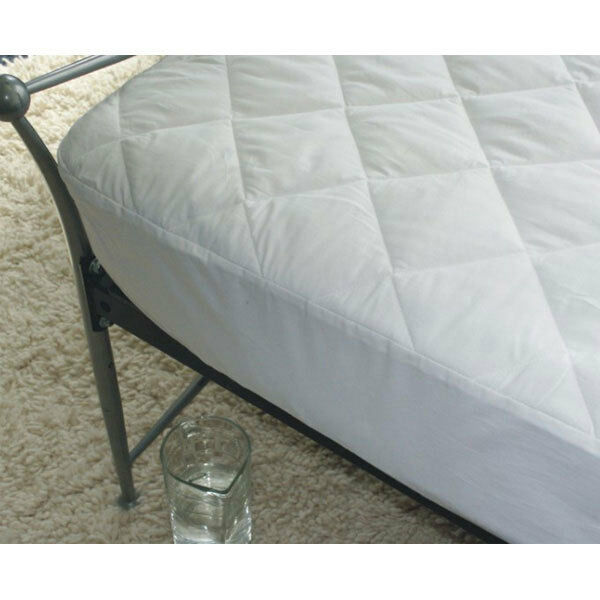 Cotton Covered Quilted Mattress Protector 38cm Deep in 2ft 6 Bunk Anti Allergy