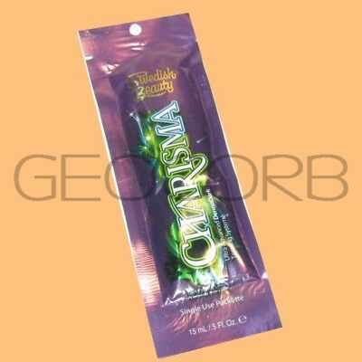 SWEDISH BEAUTY CHARISMA DARK BRONZER PACKET TANNING BED LOTION SAMPLE FAST -