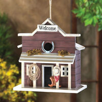 Country Western Welcome Saloon Rustic Birdhouse Brand New