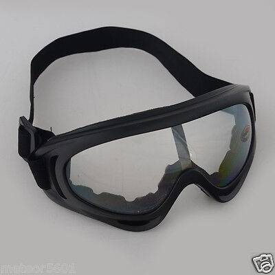 c97c2330a1 Airsoft Goggles Tactical Paintball Clear Glasses Wind Dust Protection  Motorcycle