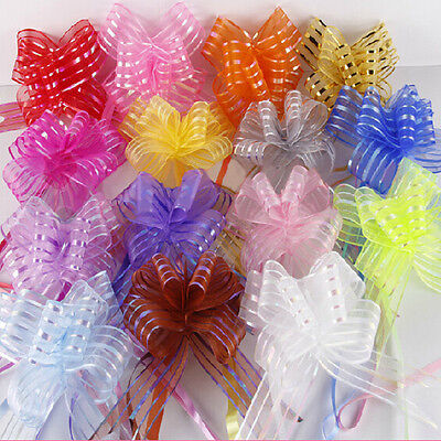 10X 30mm Pull Bow Ribbons Decorations Wedding Car Birthday Gift Wrap Floristry - Pull Bow