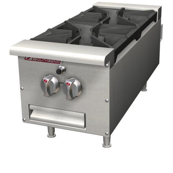 """Southbend Hdo-12 12"""" Countertop Gas Hotplate With (2) 33,000 Btu Burners"""