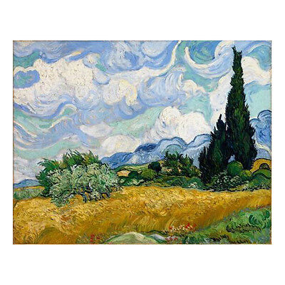 Wheat Field Canvas Print Van Gogh Painting Reproduction Art Home Decor Framed