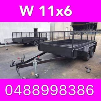 11x6 TANDEM TRAILER CAGED 2000KG LOCAL MADE ALSO HAV 10X6 12X6 2