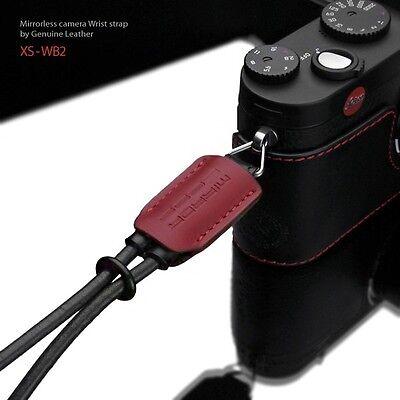 Gariz Leather Wrist Strap Black Red Xs-wb2 M43 Sony Nex Olympus Lumix Fuji